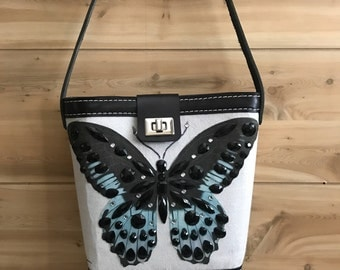 New design! Bucket Bags, Vintage Butterfly