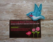 Felt Planner Clips - Turquoise Blue And Shocking Pink Hummingbird Felt Paper Clip Or Bookmark - Accessory For Books - Garden Bugs