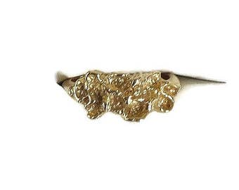 Faux Gold Nugget Band Ring Vintage NOS Size 6.25 Signed