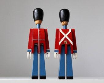 Kay Bojesen Danish Soldiers, Danish Modern Toy Soldiers, Bojesen Wooden Soldiers, Danish Royal Guard Figures, Made in Denmark,