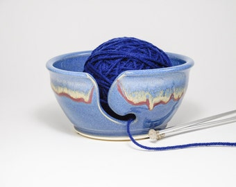 Yarn Organiser - Knitting Caddy - Yarn Ball Holder - Clay Knitting Bowl - Bowl For Knitting - Bowl Yarn - Bowl For Yarn - In Stock