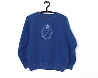 90s Chaps RALPH LAUREN CRL Embroidered Crest Sweatshirt  Size Medium