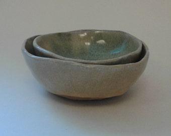 Mossy Stones Short Nesting Bowls Set