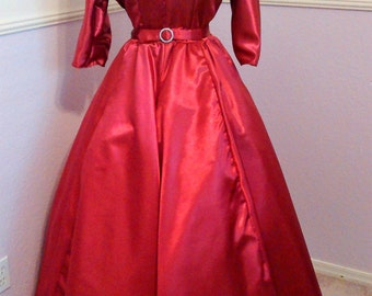 """1950's """"White Christmas"""" Inspired Dress"""