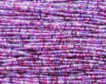 10/0 Purple and Pink Mix Czech Glass Seed Beads - 12 Strand Hank (ES19) SE