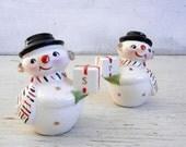 RESERVED FOR C | Holt Howard Snowman Salt Pepper Shakers | HH Japan | Mid Century | Vintage Christmas Holt Howard