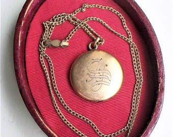 Victorian Gold Locket - Rolled Gold, Gold Filled, Pinchbeck, Locket, Edwardian