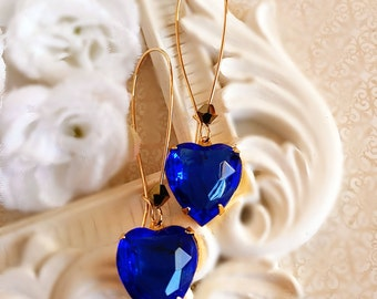 Best Valentines Day Gift - Sapphire - Heart Jewelry - DELIGHT Blue