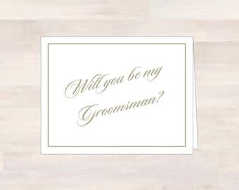 Will You Be My Card, GROOMSMAN, Wedding Card, Bridal Party Card, Be My Groomsman, Asking Groomsman, Asking Groomsmen, Ask Groomsman Card