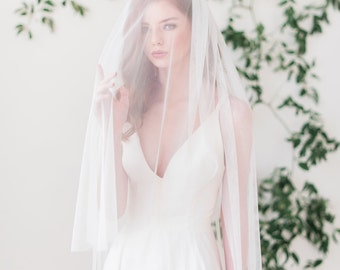 English net bridal veil with blusher, bridal veil, wedding veil - FREE SHIPPING*