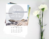 2017 Calendar, Thoreau Quotes, Photography, Inspirational Typography Print, Desk Calendar, Quote Prints, Nature Calendar, Walden, Travel