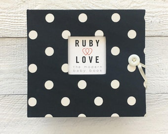 Black Polka Dot | BABY BOOK