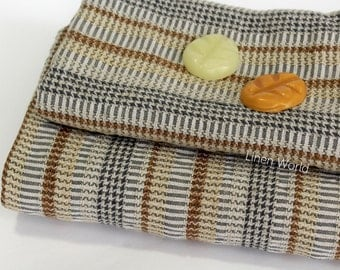 Linen Waffle Bath Towel - Natural Soft Linen Cotton Small Large Body Hand Face Towels - Men's Travel & Sports Towel Grey Textured Patterned