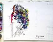 2017, A3 wall calendar by Holly Sharpe