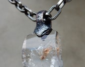 Magical Crystal Amulet with Inner Child Clear Quartz, Excellent Mediation Crystal, Deep Soul Cleanser