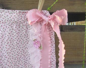 Strawberry Shortcake Wrap-around Skirt, Pink Skirt, Floral Skirt, Girls' Size 7 - 10*