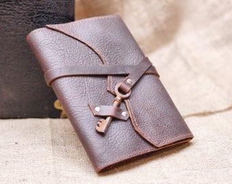 Key Wrap Journal, Wedding Guestbook, Rustic Wedding Decor, Steampunk Journal