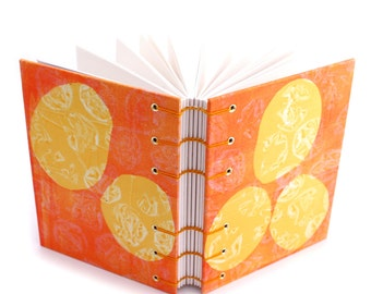 Yellow Mid Mod Journal - handmade by Ruth Bleakley