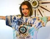 Grateful Dead tee, Band T-Shirt, Tie Dye tee, The Dead T-Shirt, Distressed Thrashed tee, Rainbow tie dye, Dead Head t shirt, Hippie festival