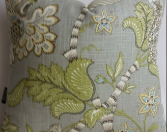 """RTS P. Kaufman clarice dove, toss pillow with feather down insert, 20"""" x 20"""""""