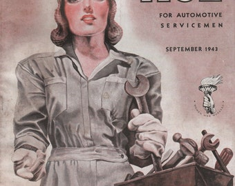 September 1943 Motor Age Magazine Mitchell-Cassell Peoria IL GMC Air Brakes