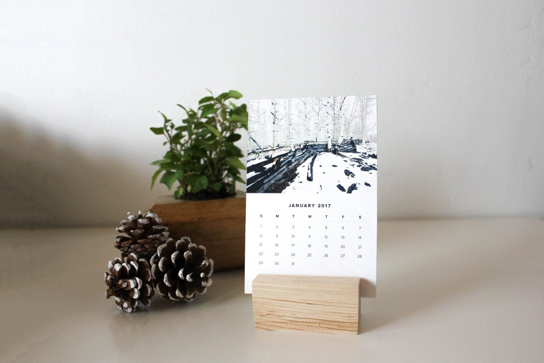 2017 Desk Calendar With Stand Mini Desktop Calendar Small