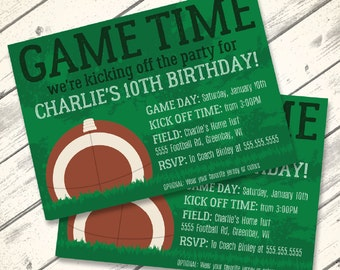 Football Invitation - Football Birthday, Tailgate Party, Super Bowl Party, Bowl Party - Editable Text - Instant Download PDF Printable