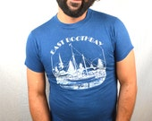 Vintage 80s Sailboat Tshirt Tee Shirt - East Boothbay