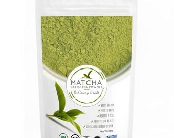Culinary Matcha (453g) - Organic, Kosher & Non-GMO Certified, Vegan and Gluten-Free   FREE 1-3 Day USA Shipping