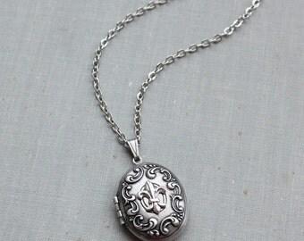 Fleur-de-lis Locket Necklace