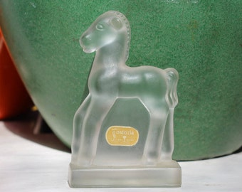 Fostoria Frosted Glass Standing Colt Pony #2589 VINTAGE by Plantdreaming
