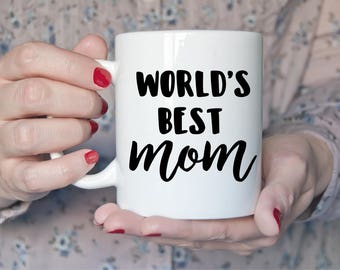 World's Best Mom Mug | Mothers Day Gift | New Mom | Baby Shower | Mother | Prop | Wife | Coffee | Tea | Mothers Day | Birthday gift for her