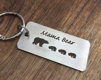 Mama Bear Keychain Mama Keychain Gift for Mama Bear Gift Idea Keychain For Her  For Mom Birthday Gift Papa Christmas Gift Mom Gift
