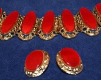 Bracelet & clip on earrings by Kramer
