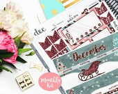 December Monthly Kit Planner Vertical EC Student Sticker Glossy - Stick to Your Story