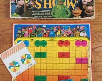 Vintage 1970s Game / Parker Bros The Muppet Show Board Game 1977 Complete / Be First To Get Your Muppets In Position for Curtain Call