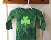 St. Patrick's Day Baby Bodysuit, Green Shamrock Baby Bodysuit, Baby Shamrock Bodysuit, Irish Baby Gift (12 months)