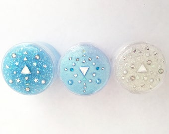90s Throwback Face & Body Glitter Pots Moonbeam collection set of 3