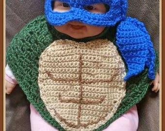 Little Ninja Poncho Crochet Pattern PDF - Instant Download