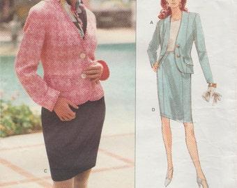Vogue 2942 / Vintage Designer Sewing Pattern By Anne Klein / Jacket Skirt Suit / Sizes 12 14 16