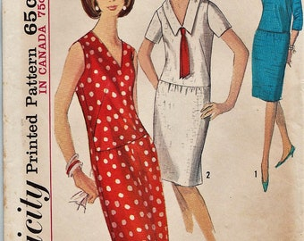 Simplicity 5778 / Vintage 60s Sewing Pattern / Dress / Size 14 Bust 34