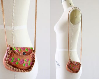 1970's tooled mini festival purse
