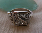 Tiffany and Co. Scorpio  Antique Sterling Silver Spoon Ring   Size 7