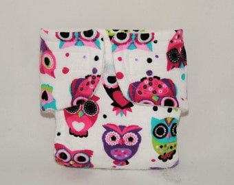 Baby Doll Diaper - Multi Owl - Size Large
