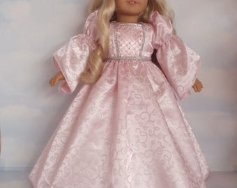 18 inch doll clothes - Light Pink Princess Gown made to fit the American Girl Doll - FREE SHIPPING