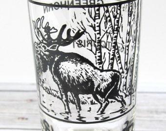VINTAGE - Alaska Highway Shooter Shot Glass - Collectible