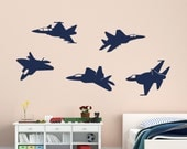 Jet Wall Decals, Fighter Jet Decals, Pilot Decal, Jet Decal, Fighter Jet Wall Decal, Air Force Decals, Aircraft Wall Decal, Military Decal