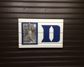 "Duke University Blue Devils picture frame holds 4""x6"" photo, decor"