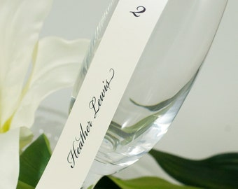 Champagne Flute Seating Card Scroll