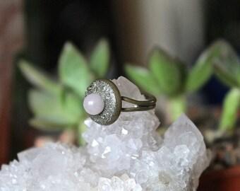 Rose Quartz Ring - ADJUSTABLE Stone Ring - Pink Stone Jewelry - Rose Quartz Jewelry - Crystal Ring - Wiccan Jewelry - Boho Festival Fashion